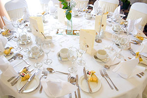 Set table at Ring of Kerry Hotel